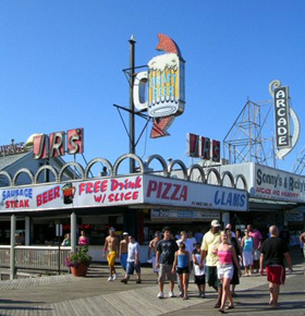 Iconic Seaside Heights NJ Boardwalk